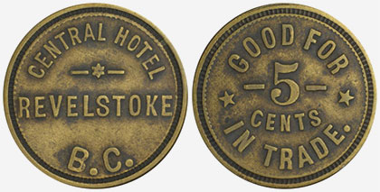 Central Hotel - Revelstoke - 5 cents