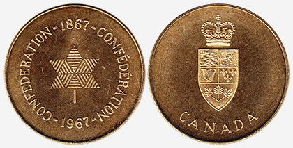 Conf�d�ration - Canada - 1867-1967 - Brass