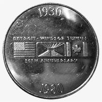 Jeton de p�age - Detroit & Canada Tunnel Co. - 50 anniversary