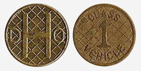 Large squares - Toll token - Department of Highway - Ontario