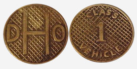 Small squares - Toll token - Department of Highway - Ontario