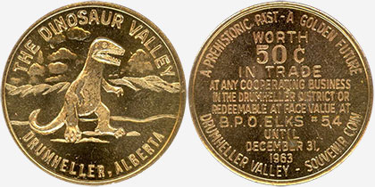Drumheller - Dinosaur Dollar - 1963 - The Dinosaur Valley