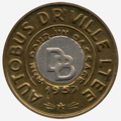 Token bus - Dr'ville Ltee - 22 mm - Brass ring