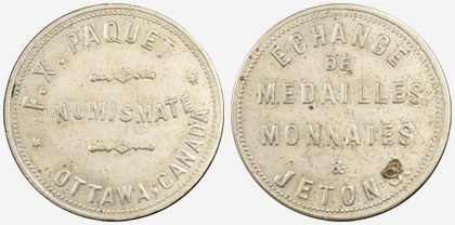 F.X. Paquet - Ottawa - German silver