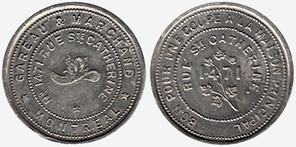 Coins and Canada - Gareau & Marchand - Montreal - Merchant tokens