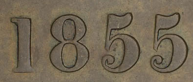 George Davies - 1/2 penny 1855