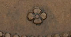George Davies - 1/2 penny 1857 - Large clover