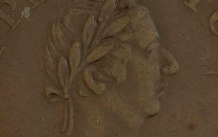 John Alexr. Barry - 1/2 penny 1815 - Small bust