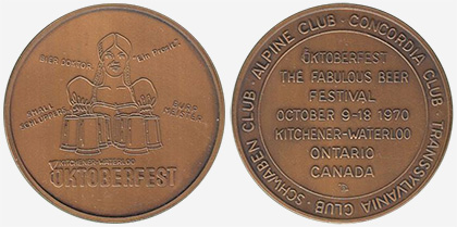 Kitchener/Waterloo - Oktoberfest 1970 - Bronze