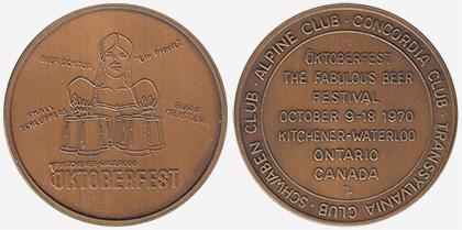 Kitchener/Waterloo - Oktoberfest 1970 - Bronze