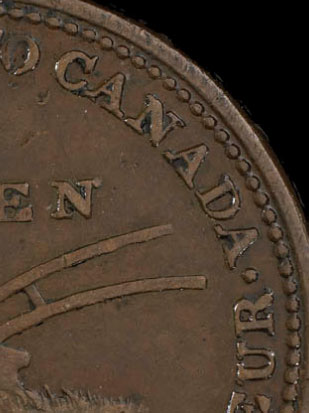 Lesslie & Sons - 1/2 penny 1824 - With beads