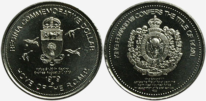 Regina - Commemorative Dollar - 1979 - Home of the R.C.M.P. - King Edward VII Confers the Title of Royal
