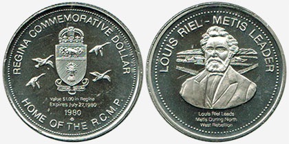 Regina - Commemorative Dollar - 1980 - Louis Riel - Metis Leader