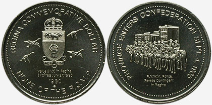 Regina - Commemorative Dollar - 1980 - Province Enters Confederation Sept. 4, 1905