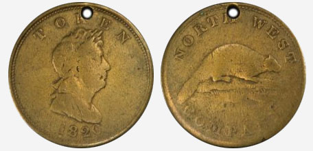 North west company - 1820 - Brass
