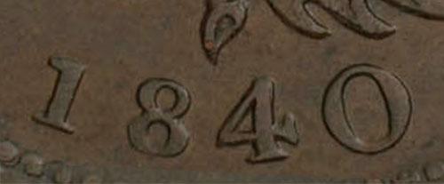 Nova Scotia - Province - 1/2 penny 1840 - Large 0