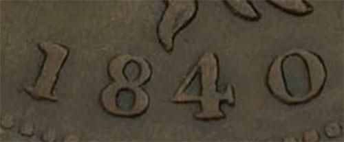 Nouvelle-Écosse - Province - 1/2 penny 1840 - Petit 0