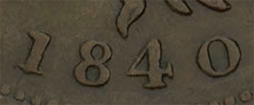 Nova Scotia - Province - 1/2 penny 1840 - Small 0