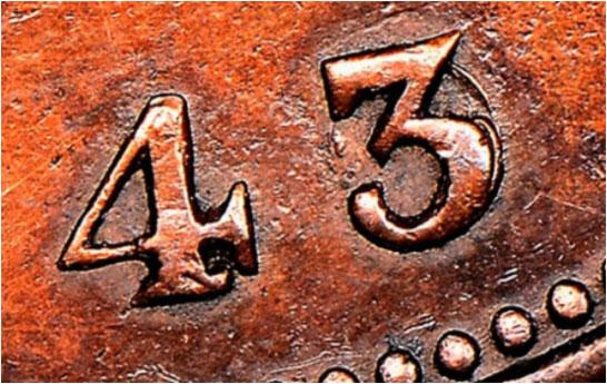 1 penny 1843 - 3/0