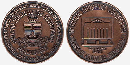 Ontario Numismatic Association - 1980