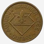 Token Bus - Autobus Fournier - Quebec - 17 mm - Brass
