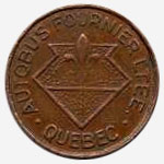Token Bus - Autobus Fournier - Quebec - 17 mm - Copper