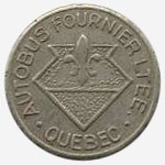 Token Bus - Autobus Fournier - Quebec - 17 mm - Grey