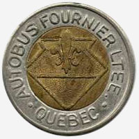 Token Bus - Autobus Fournier - Quebec - 22 mm - Brass core