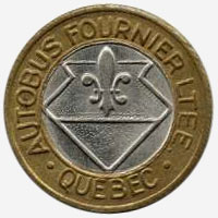 Token Bus - Autobus Fournier - Quebec - 22 mm - Brass ring