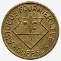 Token Bus - Autobus Fournier - Quebec - 22 mm - Brass