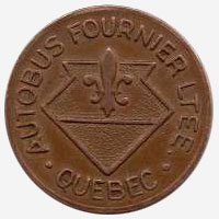 Token Bus - Autobus Fournier - Quebec - 22 mm - Copper