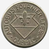 Token Bus - Autobus Fournier - Quebec - 22 mm - Grey