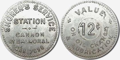 Hamilton - Shorer's Service Station - 12 cents