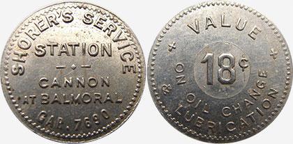 Hamilton - Shorer's Service Station - 18 cents
