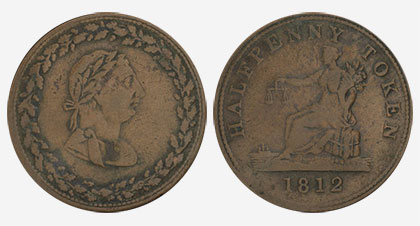 Tiffin - 1/2 penny 1812 - Copper