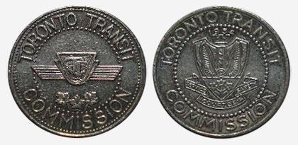 Aluminium - Token transit en commun - Toronto Transit Commission - 1975