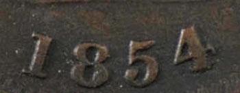 1/2 penny 1854 - 1/2 penny 1854 - Crosslet 4