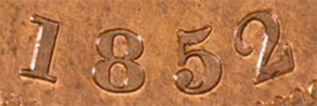 Bank of Upper Canada - 1 penny 1852 - Narrow 2
