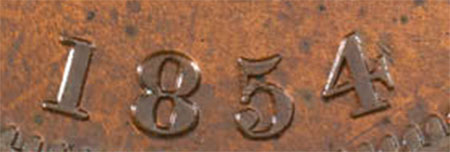 Bank of Upper Canada - 1 penny 1854 - Crosslet 4
