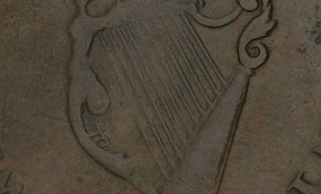 Waterloo - 1/2 penny - 1816 - 10 strings - Wellington