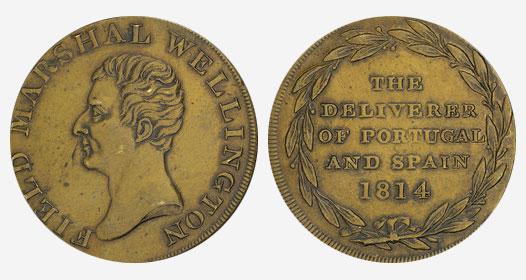 Marshall - 1/2 penny - 1814 - Brass