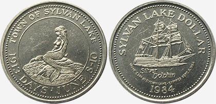 Sylvan Lake - Trade Dollar - 1984
