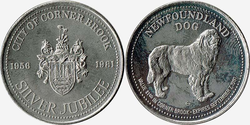 Corner Brook - Newfoundland Dog - 1981 - Silver Jubilee