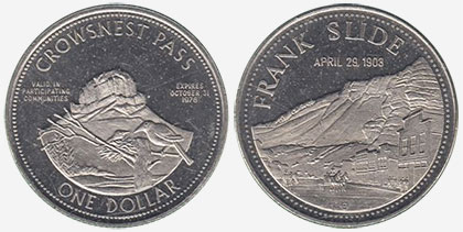 Crowsnest Pass - Trade Dollar - 1978 - Frank Slide