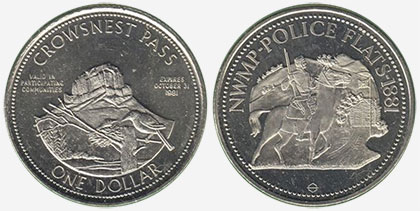 Crowsnest Pass - Trade Dollar - 1981 - Coleman