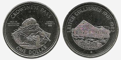Crowsnest Pass - Trade Dollar - 1982 - Leitch Collieries