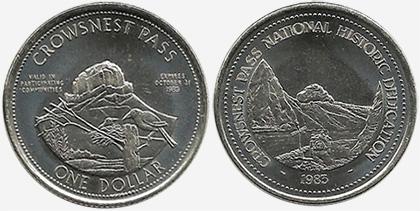 Crowsnest Pass - Trade Dollar - 1983 - Historic Dedication