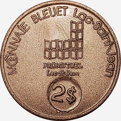 Lac-St-Jean - Monnaie Bleuet - 2 dollars
