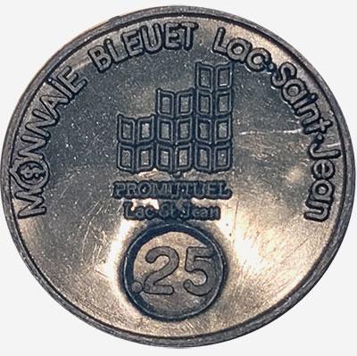 Lac-St-Jean - Monnaie Bleuet - 25 cents