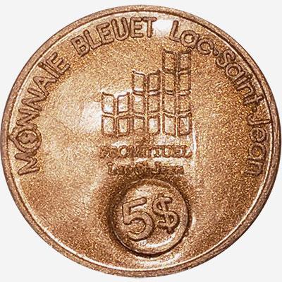 Lac-St-Jean - Monnaie Bleuet - 5 dollars